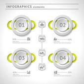 Industrielle infografiken elemente. modernes design-vorlage. abstrakte web- oder grafiklayout — Stockvektor