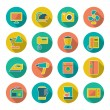 Stock Vector: Set flat icons of home technics and appliances