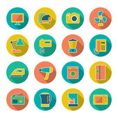 Set flat icons of home technics and appliances — Stock Vector