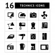 Set icons of home technics and appliances — Stock Vector