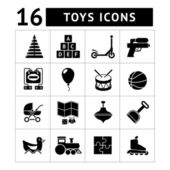 Set icons of toys — Stock Vector