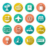 Set flat icons of travel, tourism — Stock Vector