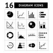 Set icons of diagrams, charts and business infographics — Stock Vector