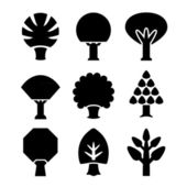 Set icons of trees — Vettoriale Stock