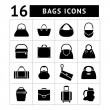 Set icons of bags — Stock Vector #46362095