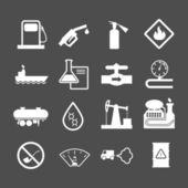 Oil industry and petroleum icons set — Stock Vector