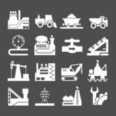 Set icons of industrial — Stock Vector