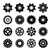 Set icons of gears — Stockvector