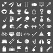 Set icons of sports and fitness equipment — Stock Vector #46675463