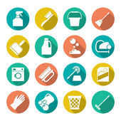 Set flat icons of cleaning — Stock Vector