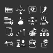 Set icons of SEO, web and internet — Vector de stock