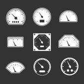 Set icons of speedometers — Stock Vector