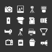 Set icons of photo — Stock Vector