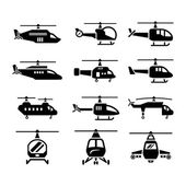 Set icons of helicopters — Stockvector