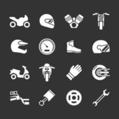 Set icons of motorcycle — Stock Vector