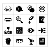 Set icons of ophthalmology and optometry — Stock Vector