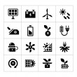 Set icons of alternative energy sources — Stock Vector #50202617