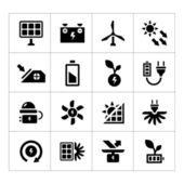 Set icons of alternative energy sources — Stock Vector