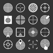 Set icons of target and sights — Stock Vector