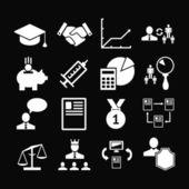 Set simgeleri insan kaynakları yönetimi — Stok Vektör
