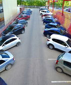 Parking of cars — 图库照片