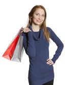 Young shopping woman — Stock Photo