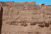 Egyptian hieroglyphs on the wall of Karnak temple — Foto de Stock