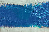 Strip of blue paint on the wall — Stock Photo