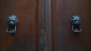 Old doors opening into greenscreen (model 3) — Stock Video
