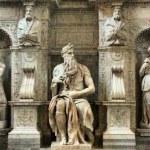 Italy Italia Roma Rome Mosè di Michelangelo basilica di San Pietro in Vincoli — Stock Photo #34715975