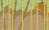 Bamboo wallpaper in desaturated colors — Stock Vector