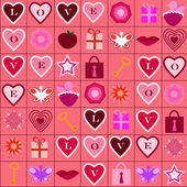 Love icons pattern — Stock Vector