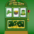 Saint Patrick's Day slot machine — Stock Vector