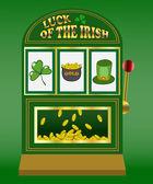 Saint Patrick's Day slot machine — Stock Vector
