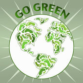 Go green planet Earth — ストックベクタ