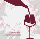 Pouring wine concept. Sample text — Stock Vector