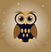 Vector owl — Stock Vector