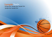 Sample text. Basketball ball — Stock Vector
