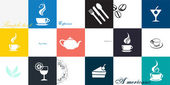 Coffee cup set. Tea cup. Vector icon collection — Stock Vector