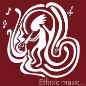 Ethnic music — Wektor stockowy
