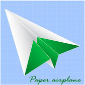 Paper airplane — Stock Vector