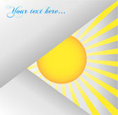 矢量图的抽象背景。太阳 — 图库照片
