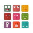 Vector icons with persons monsters. Flat tyle — Stock Vector #46821973