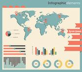 Vector info graphics elements. Dashboard — Vettoriale Stock