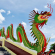 Dragon on banisters in Buddhist temple — Stock Photo #41221821