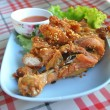 Thai style fried chicken with sticky rice — Stock Photo