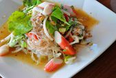 Thai food - Spicy mixed salad — 图库照片