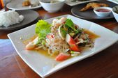 Thai food - Spicy mixed salad — Foto de Stock