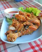 Thai style fried chicken with sticky rice — Stockfoto