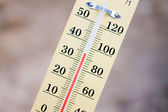 Wooden Thermometer — Stock Photo